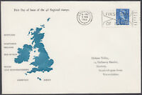1966 Scotland 4d blue Regional Definitive scarce FDC; Edinburgh FDI Slogan