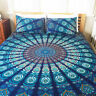 Indian Mandala Twin Bed Cover Dorm Decorative Flat Sheet Bedding Cover Tapestry