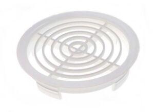 "WHITE PLASTIC SOFFIT ROOF VENTS 70MM 2 3/4"" ( 100 PER PACK )"