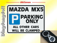 Mazda MX5 Key Ring & Parking Sign Novelty Gift Set MX-5