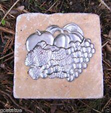 "Gostatue fruit  travertine tile mold abs plastic mold rapid set cement 4""x 4"""