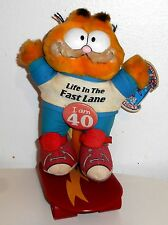 """Vintage 1980's Garfield The Cat - LIFE IN THE FAST LANE - 8"""" Plush Toy  (C001)"""