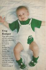 Crochet Pattern ~ Baby Frog Romper & Booties ~ Instructions