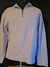 Tommy Bahama1/2 Zip Baby Blue Cotton/Spandex Golf Parka L
