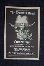 The Grateful Dead Poster 1970 Hawaii Civic Auditorium