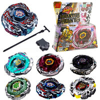 Fusion Top Metal Master Fight Rapidity Rare Beyblade + Launcher Set Toy Gift