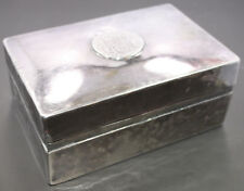 .900 Silver Peru Pieces of Eight Spanish Coin Cedar Lined Cigar Box 17.075 ozt