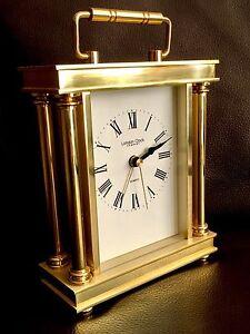 "Superb Quality Heavy Gold Plated ""London Clock Company"" Quartz Carriage Clock"