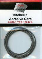 "Alpha Abrasives Mitchell's Abrasive Cord 0.070"" 1.78D 180 Grit 1 Metre #MIT050"