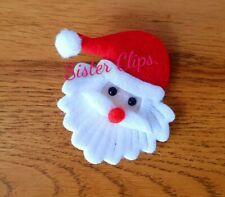 Girls Handmade Christmas santa father Christmas hair clip