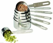 RSVP Measuring Cups 7 Set Professional 18/8 Stainless Steel DMC-10