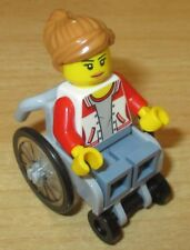 Lego City Figur - 1x Rollstuhl Fahrerin