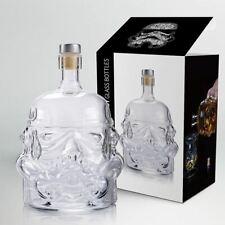 Star Wars White Soldier Glass Bottle Clear Container Storage Liquid Drinking