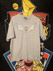 Harley-Davidson Motorcycles Grand Teton Idaho Falls, Idaho gray t-shirt sz Large