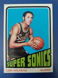 1972-73 Topps #81 Lenny Wilkens Sonics HOF- EX