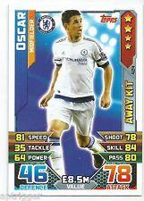 2015 / 2016 EPL Match Attax Away Kit (424) Oscar Chelsea