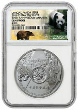 2016 China 50g Silver Official Panda Issue Anaheim ANA NGC GEM Proof SKU44127