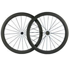 700C Clincher 50mm Carbon Fibre Wheels Matte Finsih Road Bike Carbon Wheelset