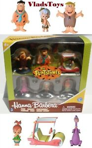 "The Flintstones Hanna Barbera 2"" Box Set 6 Figures Fred Barney Dino Pebbles Bamm"