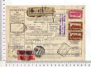 17071) BELGIUM 1953 n.5 Tranport Documents with interesting franking