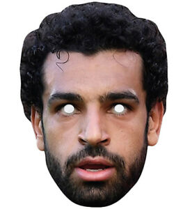 Mohamed Salah Promi Fußballer Einzel 2D Karten Party Gesichtsmaske