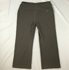 Nike Fit Dry taupe brown capri exercise pants Womens M polyester / spandex yoga