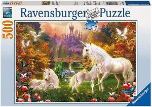 Ravensburger Magical Unicorns 500 Piece Puzzle - New - Rare - Fast Shipping
