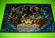 Aerosmith Pinball Machine Translite Original NOS Rock And Roll Metal Artwork