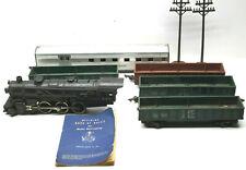 Gilbert American Flyer S R/R Lot Locomotive C&NW 4-6-2 #282+Gondola Cars+Rule Bk