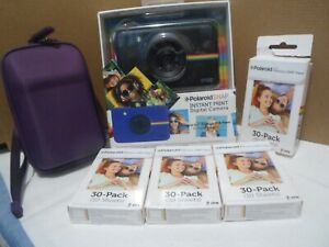 Polaroid Snap Camera Black with 110 ZINK Zero Papers And Hard Case