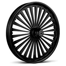 "DNA ""SS2"" GLOSS BLACK FORGED BILLET WHEEL 18"" X 10.5"" REAR HARLEY 280-300 TIRE"