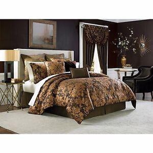 """Croscill Bedding Monique 20"""" Square Decorative Pillow Gold / Brown B165"""