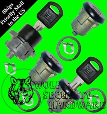 Chevy Astro GMC Safari 96-00 OEM 4 Door Key Lock Cylinder Set Black 2 GM Keys
