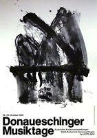 Antoni Tapies: Donaueschinger Musiktage 1968. Sign. Plakat, O.-Lithografie.