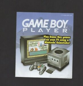 Game Boy Player Gamecube GBA C/T-AGB-AXVE-USA Ad Nintendo INSERT ONLY Authentic