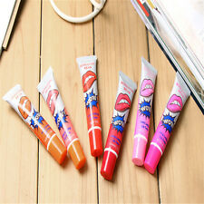 4pcs Romantic Bear WOW Peel off Lip Tattoo Stain Kiss Proof Smudge Proof