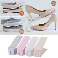 Adjustable Shoes Rack Storage Slots Organizer Holder Plastic Creative Space Save