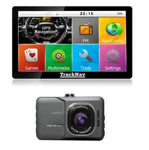 """7"""" TruckNavs+16gbSD with 2021 Mapping + Dash Cam + 16gb sd card 2 Items Bundle"""