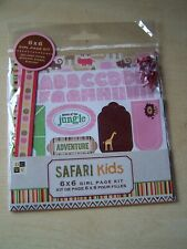 DCWV - NEW - 6 X 6 PAGE KIT - GIRL - SAFARI KIDS