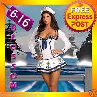 1705 Sexy Sailor Girl Adult Ladies Fancy Dress Costume
