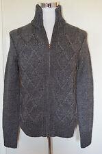 Banana Republic - Man's SMALL Two Tone Charcoal Gray Cardigan Sweater $140 (C9)