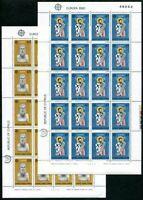 Cyprus #533-534 MNH M/S CV$14.00 St Barnabas Zeno of Citium Europa CEPT 1980