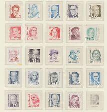 U.S. 1986-94 Famous Americans, 24 items 1-75 cents, mNH Fine
