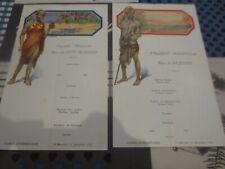 Paquebot Albertville Congo Belge - menus 21 décembre 1932