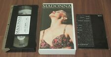 Japan OFFICIAL VHS video tape MADONNA The Girlie Show LIVE others listed NTSC