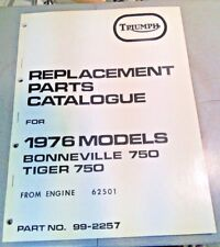 Triumph T140 Bonneville TR7 Tiger 750 twin reprint parts book catalog 1976 1977