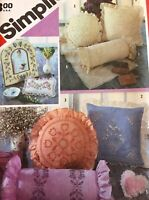 Simplicity Sewing Pattern 6176 Candlewicking  Embroidery Pillows Picture Frames