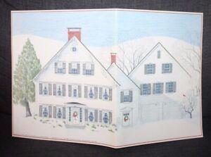 Unused VINTAGE Anne Kilham ADVENT CALENDAR 1984 Rockport, Maine