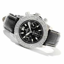 Gevril Men's 3103L  Sea Cloud Swiss Automatic Chronograph Genuine Leather Watch