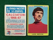 CALCIATORI 1966/67 66/1967 TORINO Luigi MERONI Figurina Sticker Panini (NEW) b